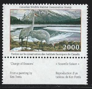 Canada 2000 wildlife habitat conservation   stamp  mnh  S.C. #  fwh16