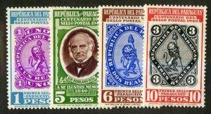 PARAGUAY 378-81 MNH SCV $4.15 BIN $2.25