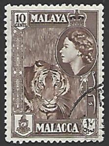 Malaya Malacca #50 Used Single Stamp