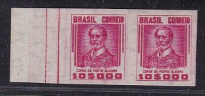 18085 BRAZIL 1941 MNHIMPERFORATED PAIR RHM # 423-SD - VALUE US$ 550.00