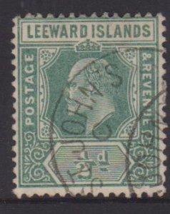 Leeward Islands Sc#42 Used Postmark St John's Antigua