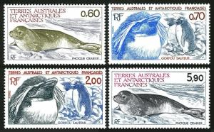 FSAT 107-110,MNH.Michel 184-187 Crab-eating Seal,Penguins,1984.