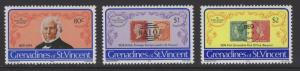GRENADINES OF ST.VINCENT SG152/4 1979 ROWLAND HILL MNH