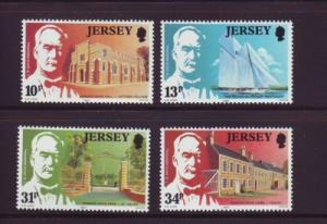 Jersey  Sc 372-5 1985 Davis Hall Victoria College stamps mint  NH