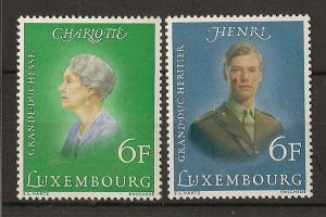 Luxembourg 1976 Royalty SG962-963 MNH