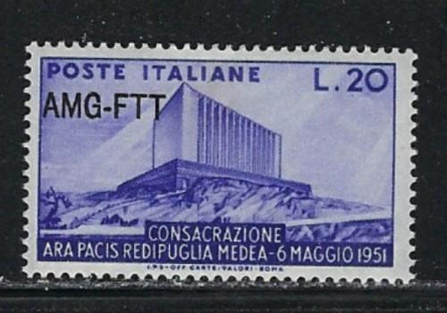 Italy-Trieste 112 Hinge Remnant 1951 overprint on stamps of Italy