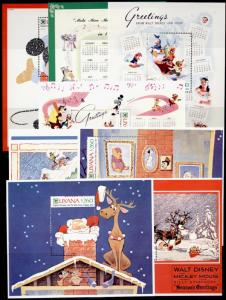 Guyana 2480-7 MNH Disney, Christmas, Music, Animals