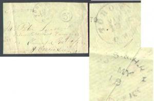 Canada #8996 - Stampless-York Cnty-Toronto,CW CDS cancel [ B/S O.S. & H.R.R. /