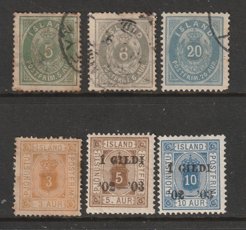Iceland x 6 old ones (3 U 3MH)