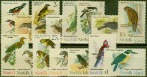 Norfolk Islands 1970-71 Birds set of 15 SG103-117 V.F MNH
