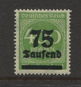 Germany -Scott 251- Definitive Issues -1923 - MLH - Single 75th on a 400m Stamp