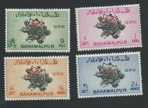 Pakistan-Bahawalpur Scott #O25-O28 UPU 75th Anniversary (1949) MNH