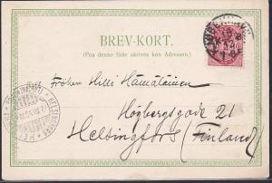 DENMARK 1899 early picture postcard Copenhagen to Finland..................53849