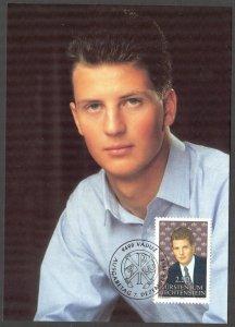 Liechtenstein 1992 Prince Alois Maxi Card FDC
