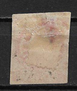 1862 Argentina Sc5 Seal of the Republic 5c space filler