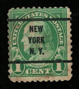 USA 1923 Benjamin Franklin, overprinted New York N. Y. 1c (ТS-1766)