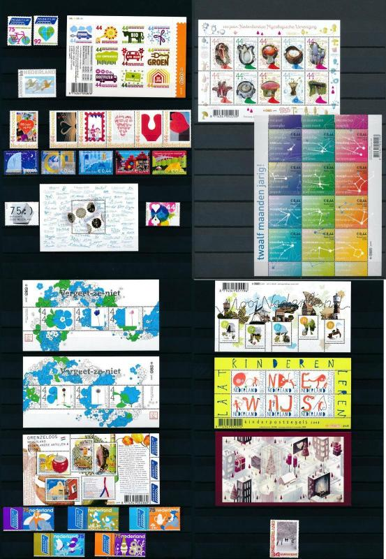 Netherlands Niederlande 2008 Year Set Complete incl. Miniature Sheet MNH