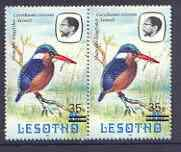 Lesotho 1986-88 Malachite Kingfisher Provisional 35s on 2...