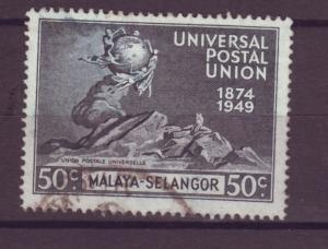 J17847 JLstamps 1949 hv of set malaya selangor used #79 upu