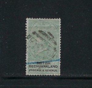 BECHUANALAND PROTECTORATE SCOTT #20 1887 WMK 14- 10SH- PEN CANCEL (SPACE FILLER)