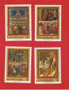 Luxembourg #495-498  MNH OG  Paintings  Free S/H