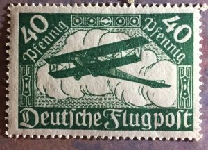 1919, 40 Pf. Airmail pale green, mint never hinged,OG