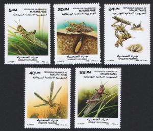 Mauritania Locusts 5v SG#925-929 SC#648=658 CV£10