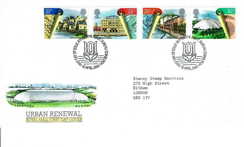 GREAT BRITAIN 1984 - URBAN RENEWAL FIRST DAY COVER - EDINBURGH H/S