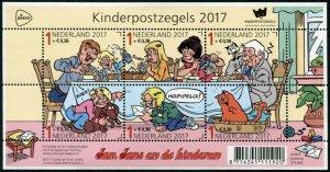 HERRICKSTAMP NEW ISSUES NETHERLANDS Sc.# B770 Childrens Stamps 2017 S.P. Sheet