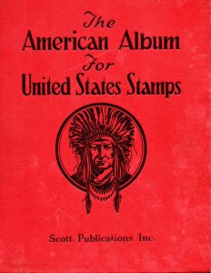 Scott-#I - The American Album for United States Stamps w/ Bound Album Pages.