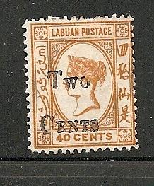 Labuan 1893 surcharged mint Scott cat.# 40