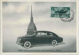 37267  MAXIMUM CARD - Italy : CAR AUTOMOBILE EXPO - TORINO 1951
