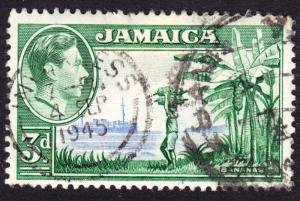 Jamaica Scott 121  F to VF used with a superb SON cds.