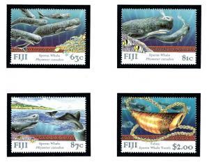 Fiji 821-24 MNH 1998 Whales
