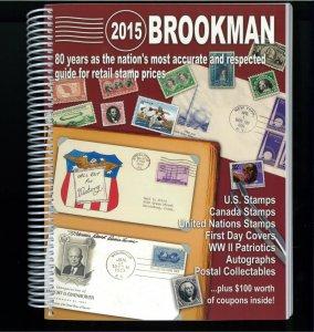 2015 Brookman Price Guide U.S. U.N. Canada Stamps Catalogue Spiral Bound 392p