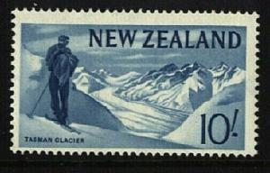 NEW ZEALAND 1960 10/- Glacier / Skier MNH..................................23032