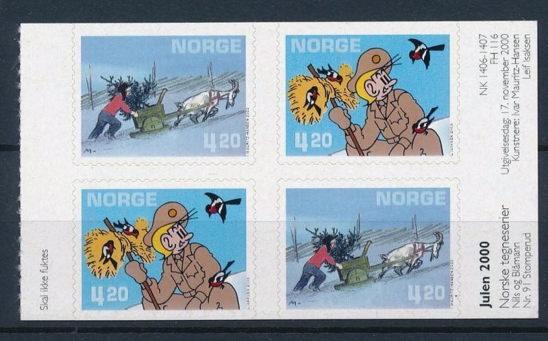 [38500] Norway 2000 Animals Comics Nils Soldier Birds Goat Self Adhesive MNH