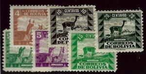 Bolivia SC#251-256 Mint F-VF...Worth a Close Look!