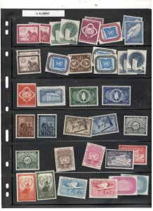 UNITED NATIONS MINT, MOSTLY MNH COLLECTION
