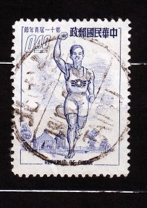 J22915 JLstamps 1954 china taiwan used #1098 sports