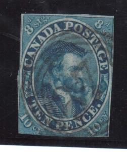 Canada #7 Used With 4 Ring 47 Cancel