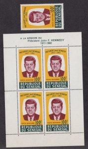 Senegal # C40 & C40Aa, John F. Kennedy, NH, 1/2 Cat.
