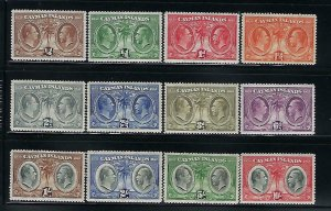 CAYMAN ISLANDS SCOTT #69-80 1932 CENTENARY OF THE CAYMAN IS -  MINT LIGHT HINGED