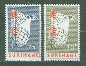 SURINAM/SURINAME 1966 MNH SC.339/40 TV Service
