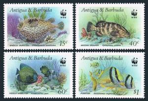 Antigua 1005-1012,1013-1014,MNH.Michel 1010-1019 Bl.123-124. WWF 1987.Fish,Birds