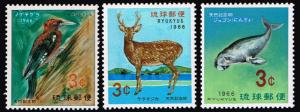 Ryuku Islands # 140 - 142  MNH