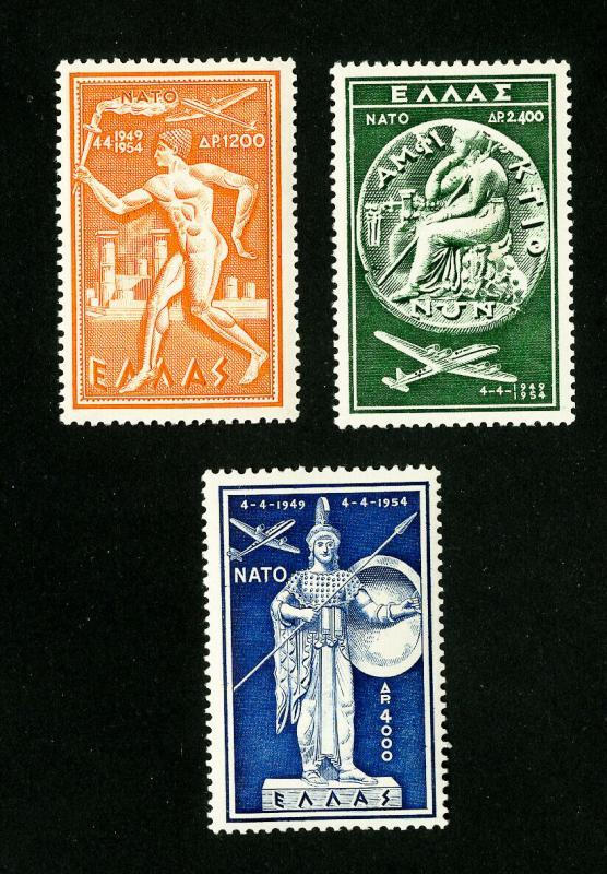Greece Stamps # C71-3 VF OG NH Set of 3 Scott Value $175.00