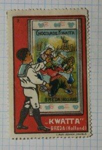 Chocolate Kwatta Breda Sailor German Brand Poster Stamp Ads