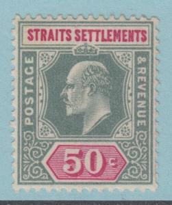 STRAITS SETTLEMENTS 101  MINT LIGHTLY HINGED OG *  NO FAULTS EXTRA FINE !