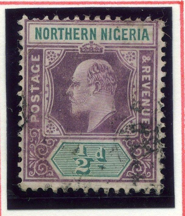 NORTHERN NIGERIA;  1904 early classic Ed VII issue used 1/2d. value